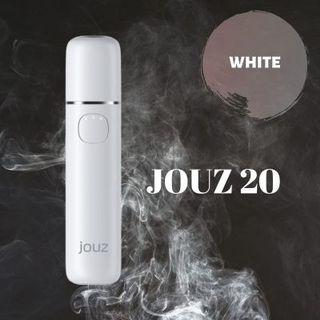 JOUZ 20 - HEAT NOT BURN 20 Continuous Stick With Single Charge Free GIft Cleaning Device (White) 0.058