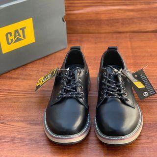 美國CAT catpiller卡特彼勒 EASE系列百搭男皮鞋 基本款登山鞋 簡單百搭簡約款休閒鞋 輕便耐磨低邦皮革