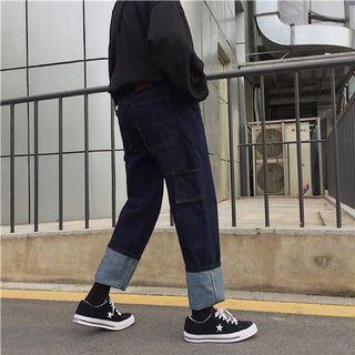 古著寬鬆牛仔褲 工裝直筒褲