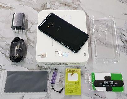 *典藏奇機*極新展示機-HTC 3D曲面水漾玻璃 HTC U Play 64GB 4G+3G雙卡 前後1600萬畫素