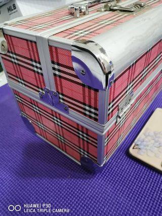 PINKY PATTERN MAKEUP BOX (3 LAYER)