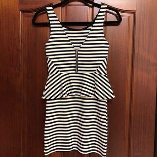 H&M 條紋 洋裝