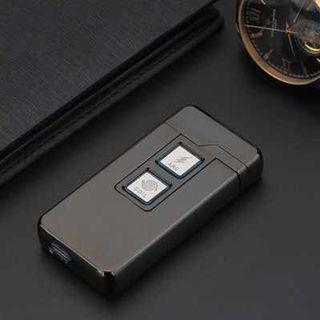 USB Rechargeable Electronic Hit Fire Machine Windproof Dual-purpose Flameless Metal Smoking Cigarette Lighters