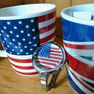 (購物贈送)美國國旗裝飾用手錶
