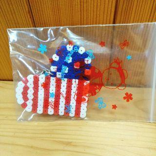 美國國旗拼拼豆豆吊飾