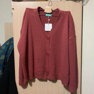 楓葉色秋天必備針織上衣(最後一張較接近實際顏色