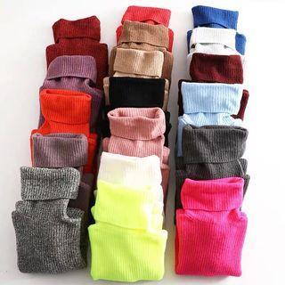 OshareGirl 11 歐美18色女士高領反摺針織毛衣堆領寬鬆版(第12號色近拍)