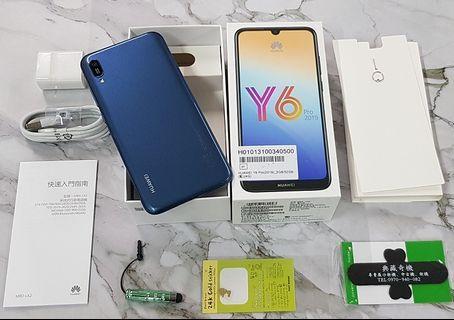 *典藏奇機*展示機出清-HUAWEI Y6 Pro 2019 6.09吋HD+全螢幕 4G+4G雙卡 臉部解鎖