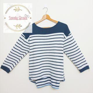Stripes longsleeve knitted style #caroustyle