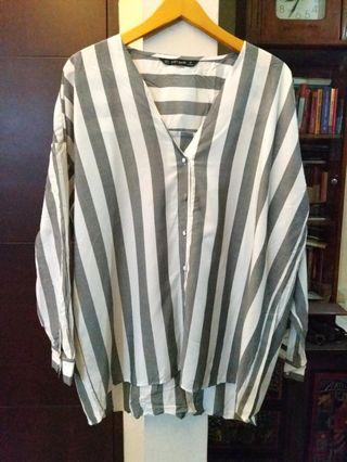 Zara striped big loose blouse #1111special