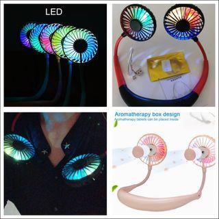 😍4th gen LED Hanging Lazy fan/Hand free MINI Fan