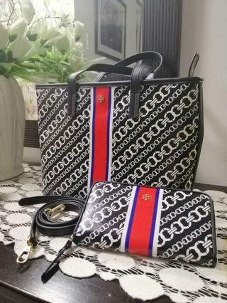 Tory Burch Inspired Two Way Bag and Wallet