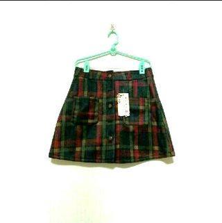 韓系格紋短裙