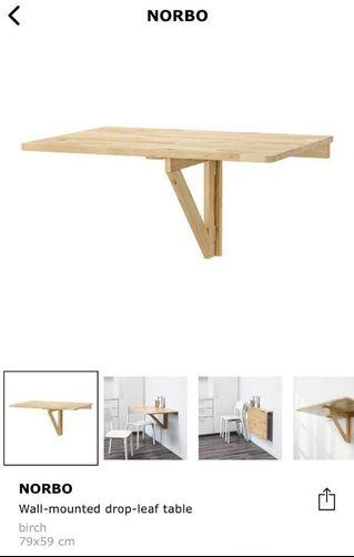 NORBO Wall Mounted Drop-Leaf Table