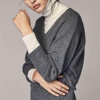 Massimo Dutti秋冬V領羊毛針織衫毛衣