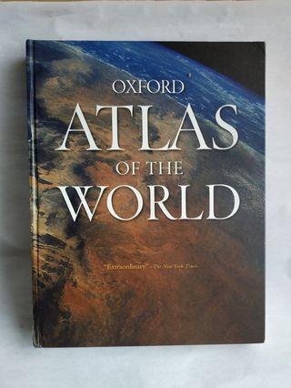 Atlas of the World by Oxford University Press 16th edition English hardcover hardback volume book peta dunia