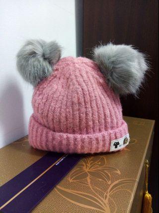 粉紅超暖帽#換物