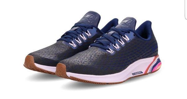 Nike 慢跑鞋 Air Zoom Pegasus 35 PRM 藍 紫 女鞋 AH8392-400