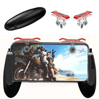 Free Delivery T PUBG Mobile Phone Gaming Trigger Fire Button For L1R1 Shooter Controller PUBG E9 Gamepad Red Silver