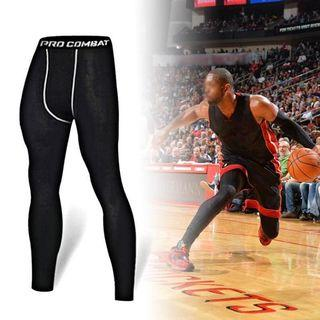 Free Delivery T Men Compression Pants Gym Fitness Sports Running Leggings Tights Quick-drying Fit Training Long Jogging Pant