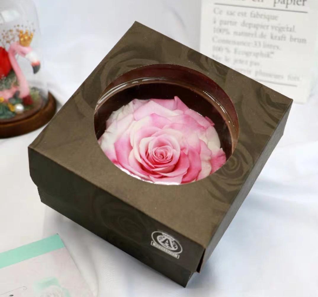 花頭8cm永生花禮盒/巨型玫瑰花盒