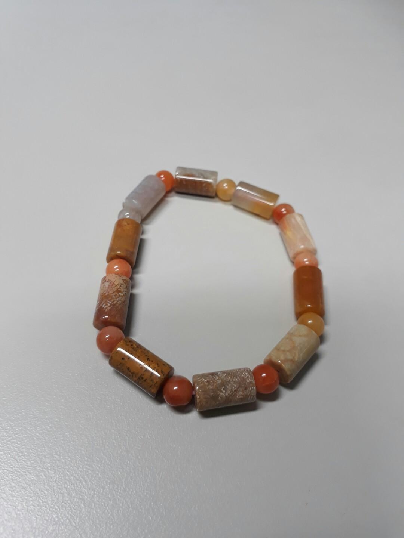 珊瑚玉筒狀手珠#剁手時尚