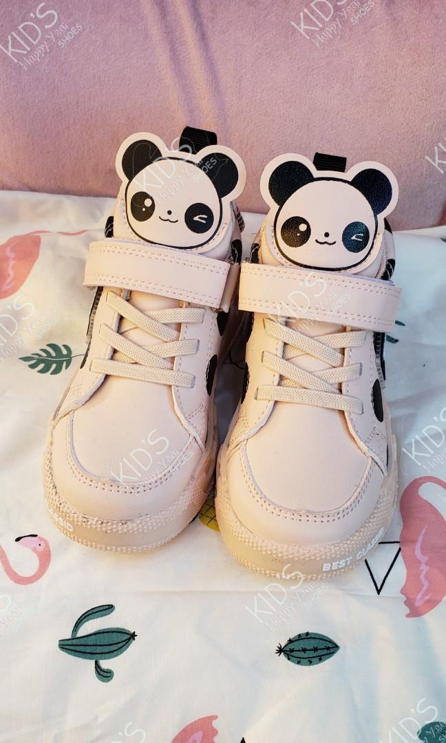 女童 熊貓樣 高通波鞋
