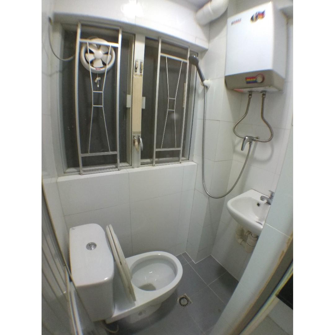 新蒲崗唐樓低層_安福大樓_企理套房設大床_實用90呎_平租4300 (物業編號 R230)