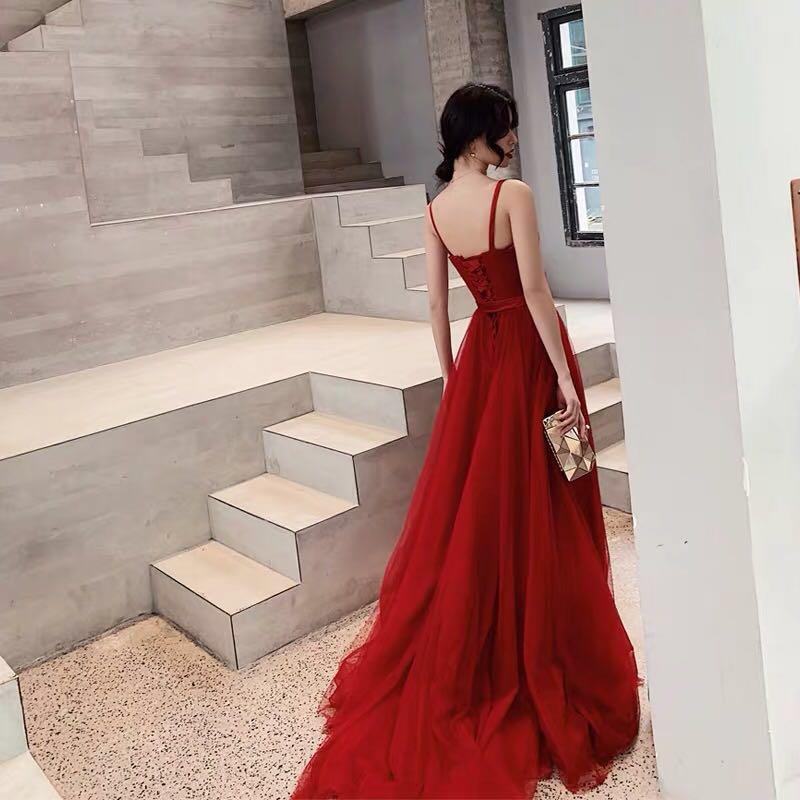 紅色晚裝 敬酒 晚裝 結婚 婚紗相