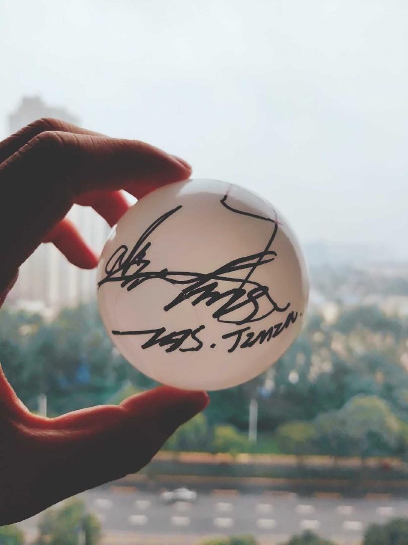 防彈少年團 朴智旻 親筆簽名 簽名球 只有一個 演唱會扔出的簽名球