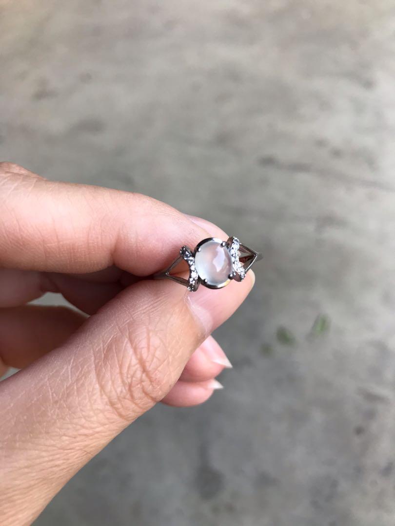 天然緬甸玉A貨 翡翠耳環項鍊戒指套組 附證書