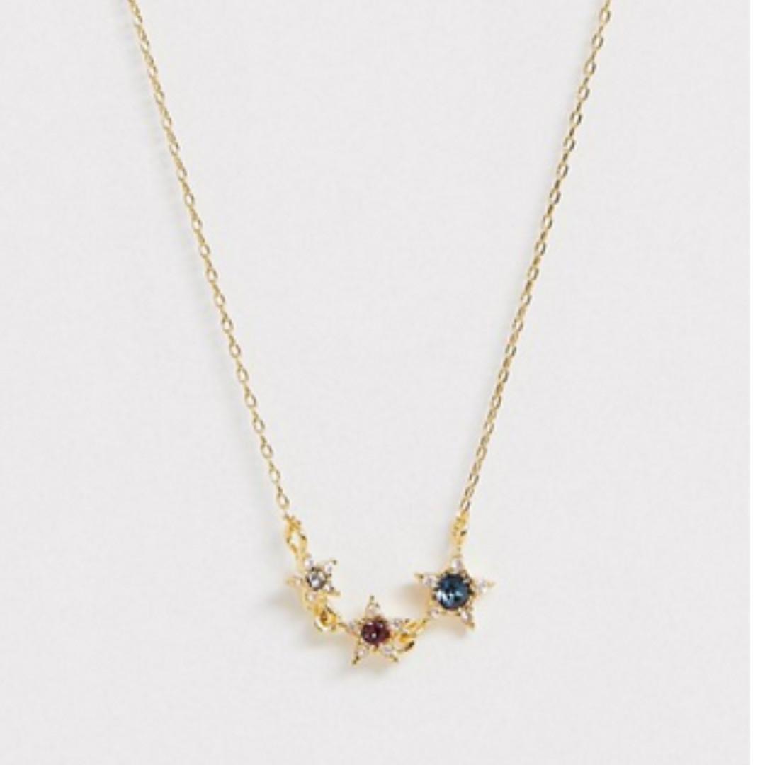 Accessorize Swarovski stone star necklace