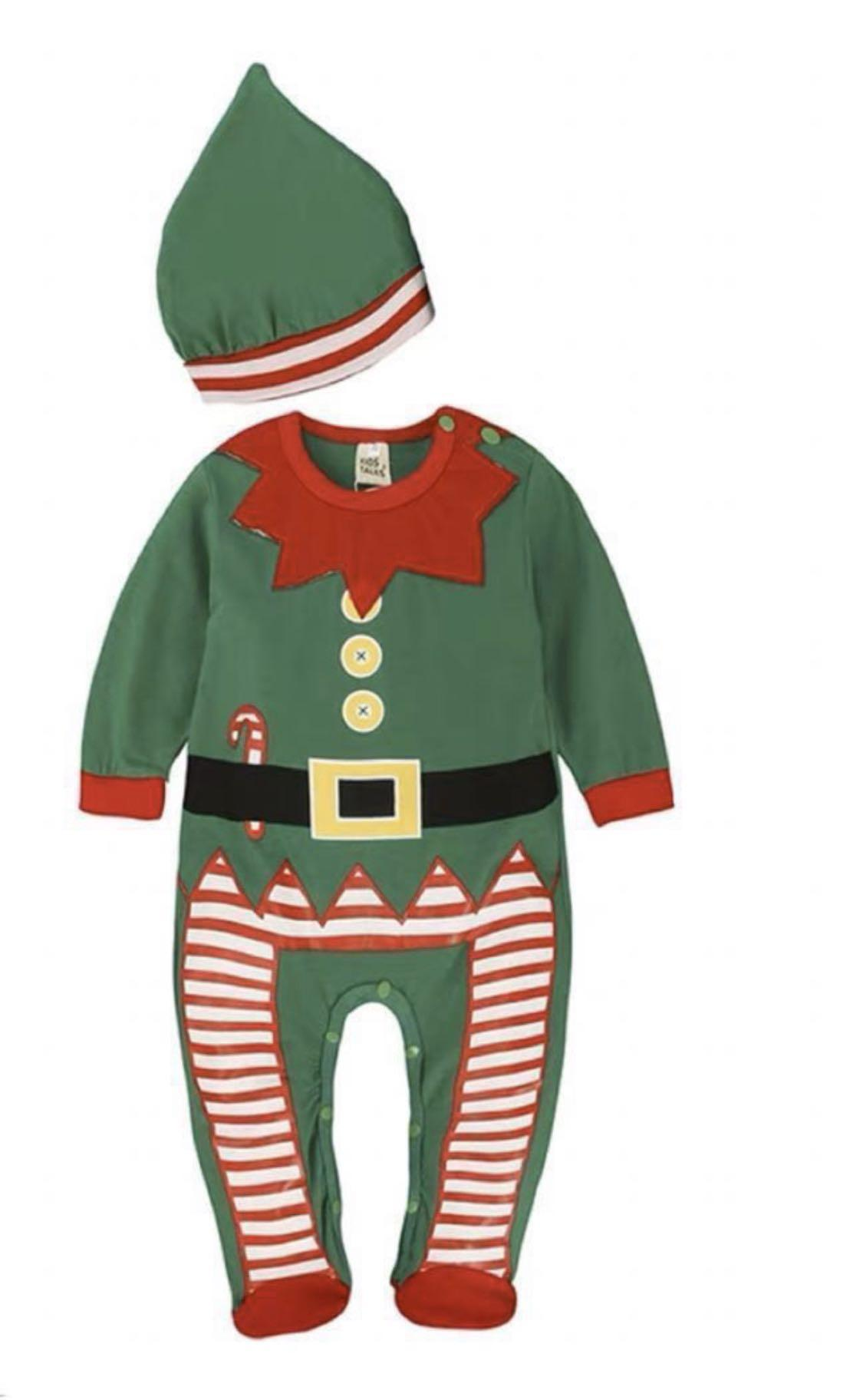 🎄Baby bodysuit BB 連身衫 聖誕🎄Baby bodysuit BB 連身衫 聖誕裝 精靈 衫仔 ELF Christmas party costume size 0-2 years old not mothercare chickee duck Kingkow Ikea 裝 精靈 衫仔 ELF Christmas party costume size 0-2 years old not mothercare chickee Kingkow Ikea spectra pigeon