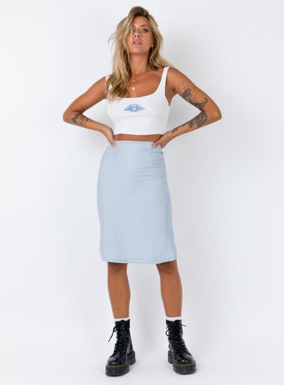 Blue Ethereal Skirt by ZYA the Label / Princess Polly BNWT Size 8