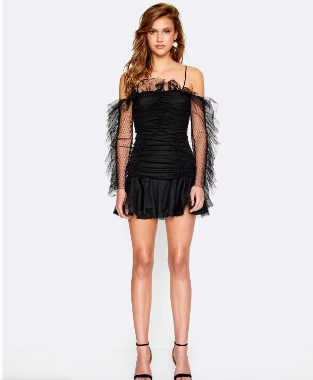 BNWOT ALICE MCCALL BLACK ALL THINGS NICE DRESS - SIZE 6 AU/2 US (RRP $390)