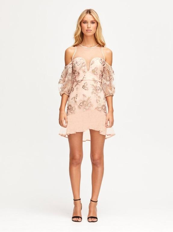 BNWOT ALICE MCCALL NUDE SWEET LITTLE MYSTERY MINI DRESS - SIZE 12 AU/8 US (RRP $450)