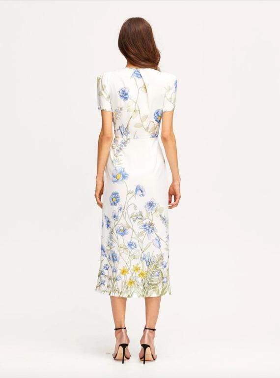 BNWOT ALICE MCCALL PORCELAIN FLOWER GIRL MIDI DRESS - SIZE 4 AU/0 US (RRP $395)