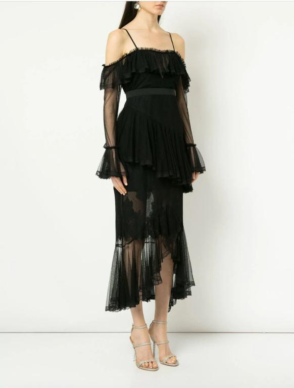 BNWT ALICE MCCALL BLACK ALL I KNOW DRESS - SIZE 12 AU/8 US (RRP $490)