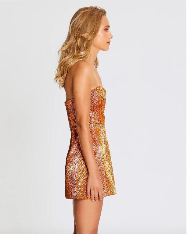 BNWT ALICE MCCALL COPPER ELECTRIC NIGHTS DRESS - SIZE 12 AU/8 US (RRP $450)