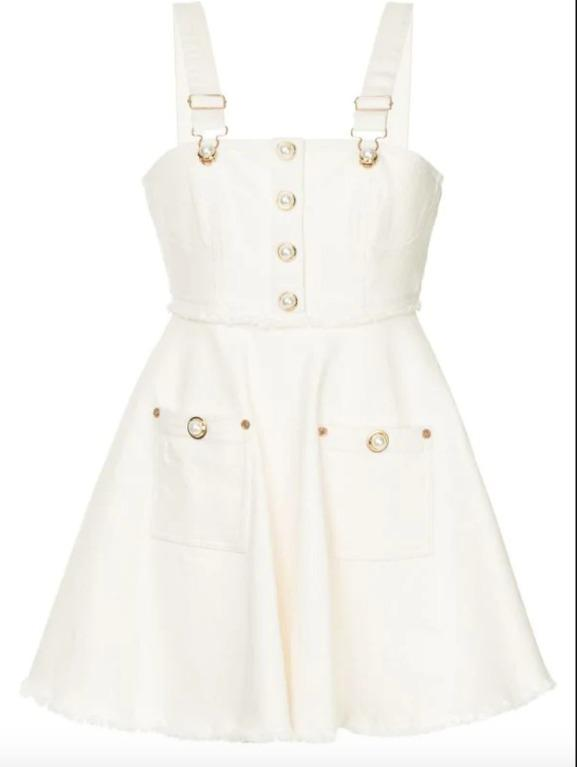 BNWT ALICE MCCALL CREME GIRL MEETS THE PEARL DRESS - SIZE 14 AU/10 US (RRP $290)