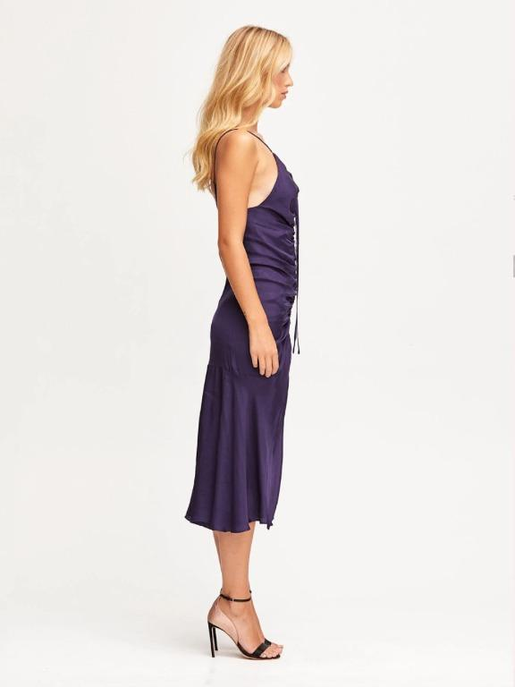 BNWT ALICE MCCALL INDIGO BLUE MOON MIDI DRESS - SIZE 10 AU/6 US (RRP $325)