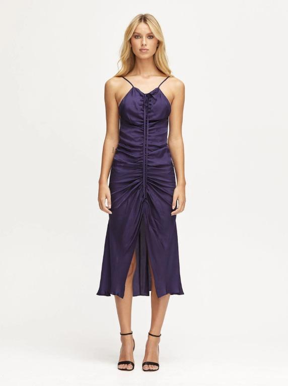 BNWT ALICE MCCALL INDIGO BLUE MOON MIDI DRESS - SIZE 12 AU/8 US (RRP $325)