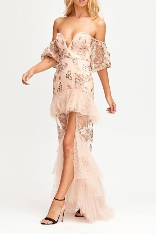 BNWT ALICE MCCALL NUDE SWEET LITTLE MYSTERY GOWN - SIZE 14 AU/10 US (RRP $895)