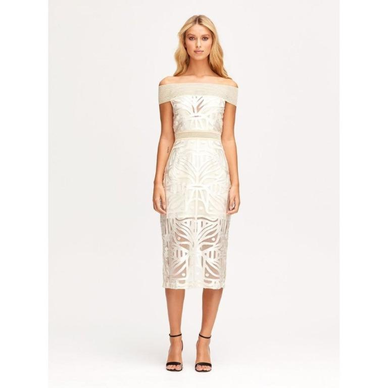 BNWT ALICE MCCALL OATMEAL LUNAR MIDI DRESS - SIZE 6 AU/2 US ($395)