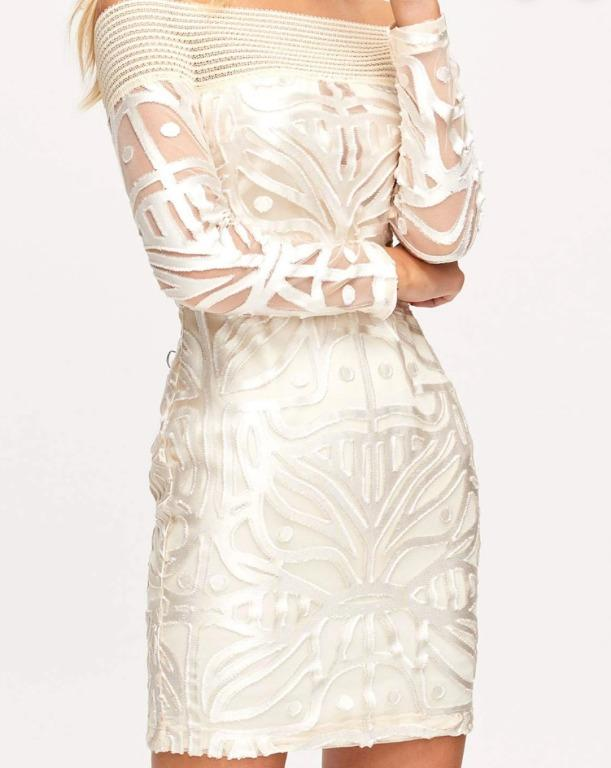 BNWT ALICE MCCALL OATMEAL LUNAR MINI DRESS - SIZE 10 AU/6 US (RRP $360)