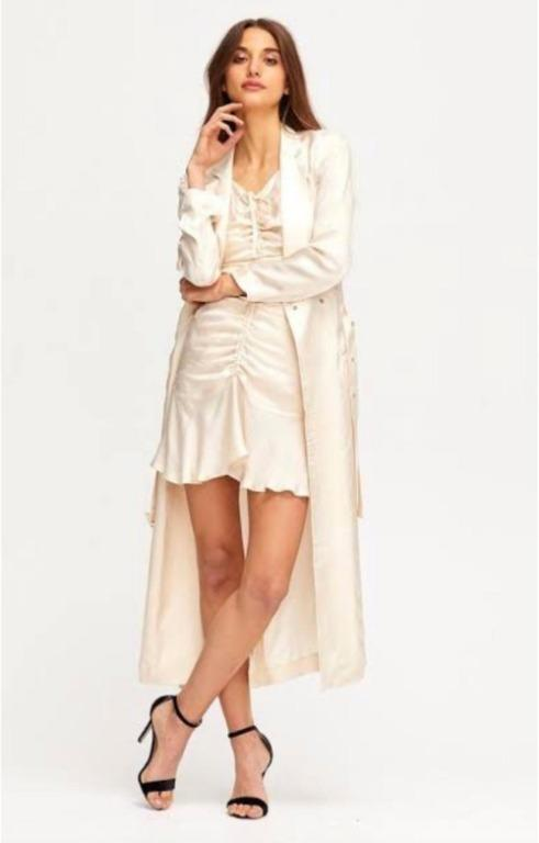 BNWT ALICE MCCALL OYSTER BLUE MOON COAT - SIZE 4 AU/0 US (RRP $425)