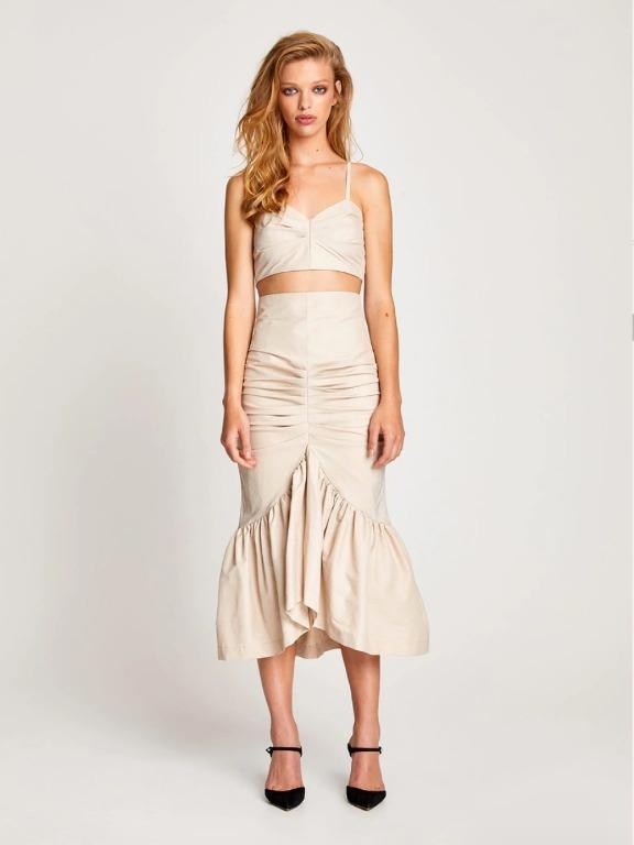 BNWT ALICE MCCALL OYSTER SURRENDER SKIRT - SIZE 6 AU/2 US (RRP $325)