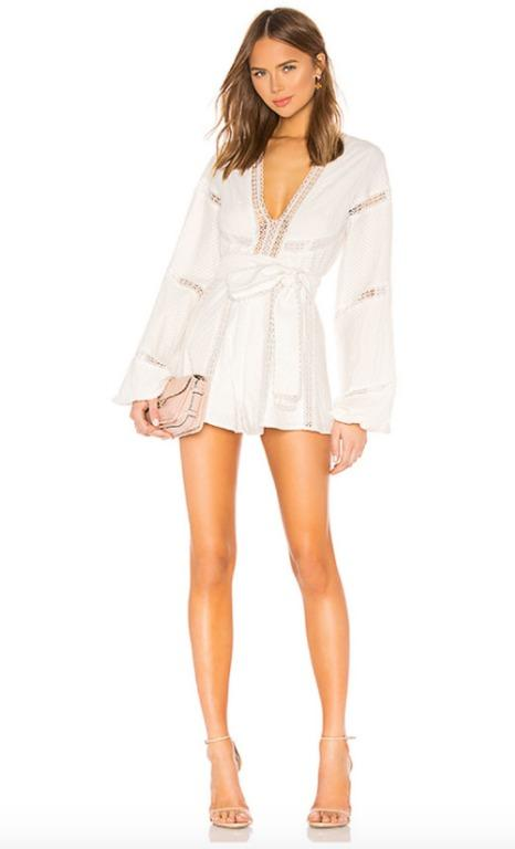 BNWT ALICE MCCALL PORCELAIN FOREIGN AFFAIR PLAYSUIT - SIZE 8 AU/4 US (RRP $425)