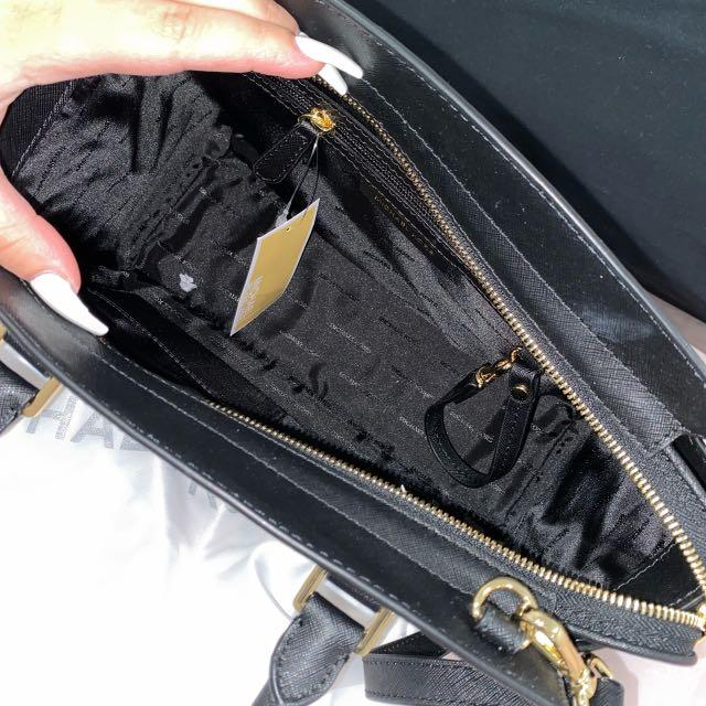 Brand new authentic Michael kors black medium Selma satchel tags attached includes shoulder strap and dust bag