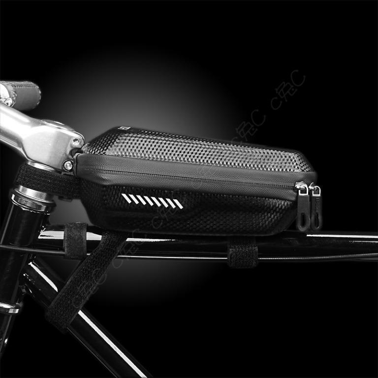 B-soul 全新自行車前梁袋:碳纖維紋硬殼上管包 單車上管袋 腳踏車包 橫梁包 橫樑袋 前樑包